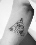 Triángulo de rosas