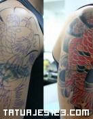 Cover up de motivos orientales
