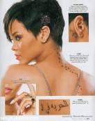 Rihanna mas que tatuada