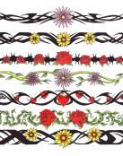Tatuajes variados de brazaletes a color