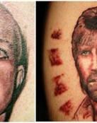 Chuck Norris y Britney spears en tattoo