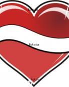Tatuaje de corazón rojo grande