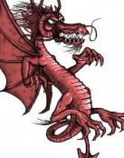 Caricatura de dragón