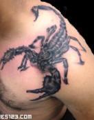 Enorme escorpión en 3 dimensiones