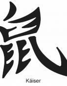 tatuaje de la palabra Kaiser en letras chinas