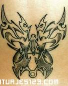Diseño de mariposa unisex