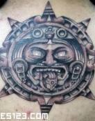 Tatuaje de Sol Azteca