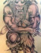 Guerrero vikingo rezando