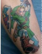 Zelda combate con espada y escudo