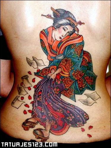 Warrior Japoneses en la Espalda