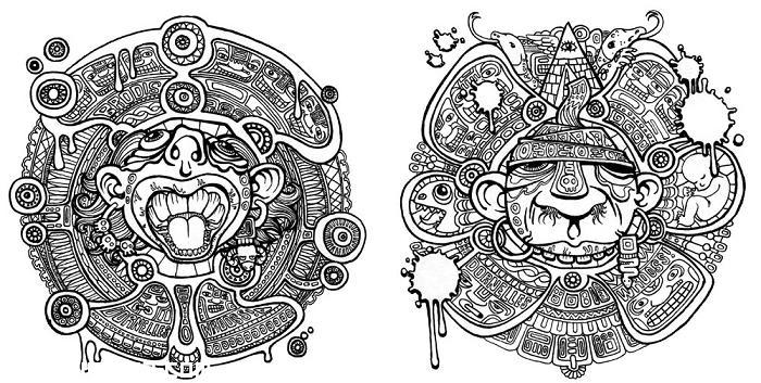 Diseño posible para tattoo azteca