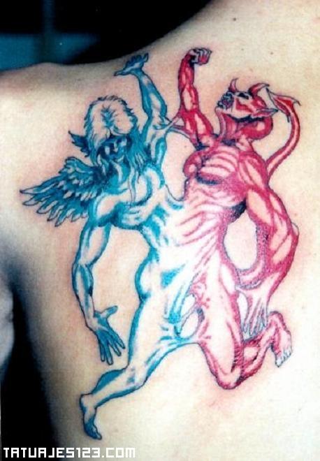 El Bien Contra El Mal Tatuajes 123