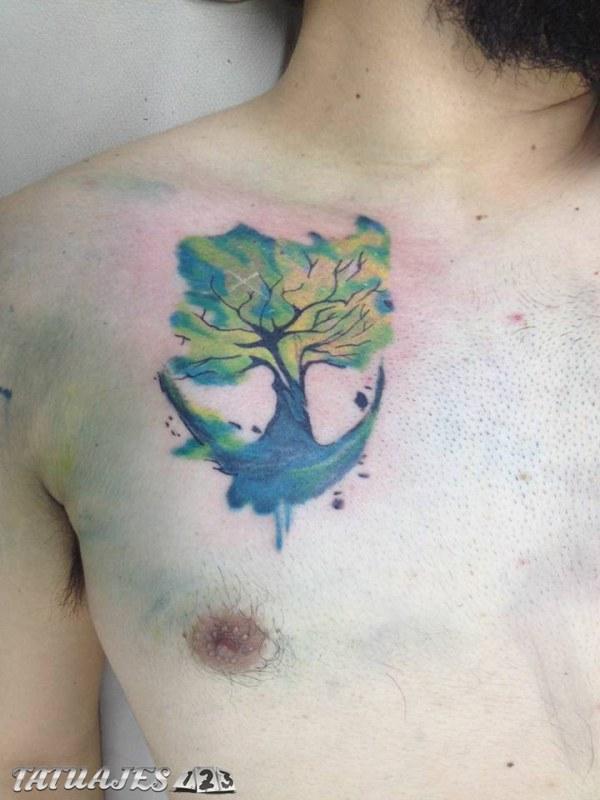 Árbol acuarela
