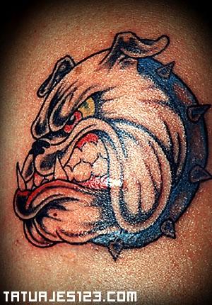 Perro Bulldog Con Mala Leche Tatuajes 123