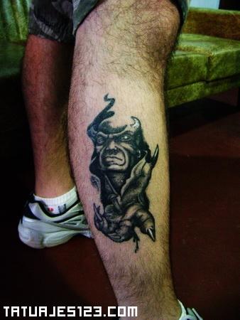 Demonio En El Gemelo Tatuajes 123