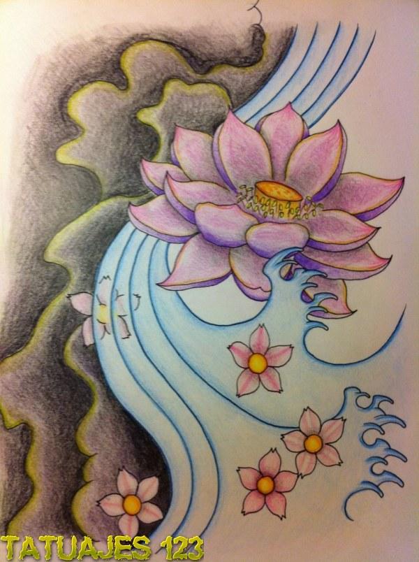 Diseño flor de loto