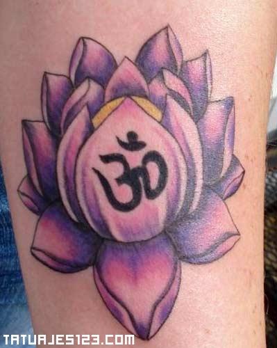 Flor de loto morada