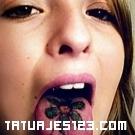 Flor en la lengua