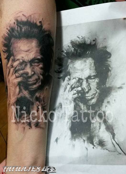 Keith Richards tattoo