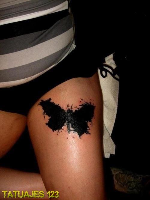 Mariposa De Estilo Acuarela Tatuajes 123