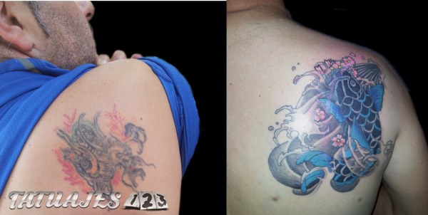 Pez koi Cover up