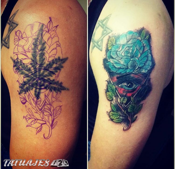 Tattoo cover up old school
