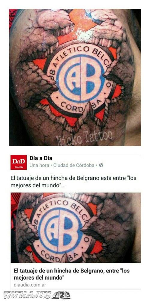 Tattoo escudo Belgrano cordoba