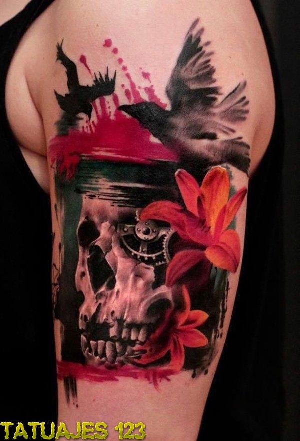 Impresionante Tatuaje 3d Con Calavera Tatuajes 123