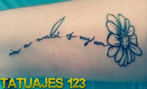 Tatuaje con frases Disney