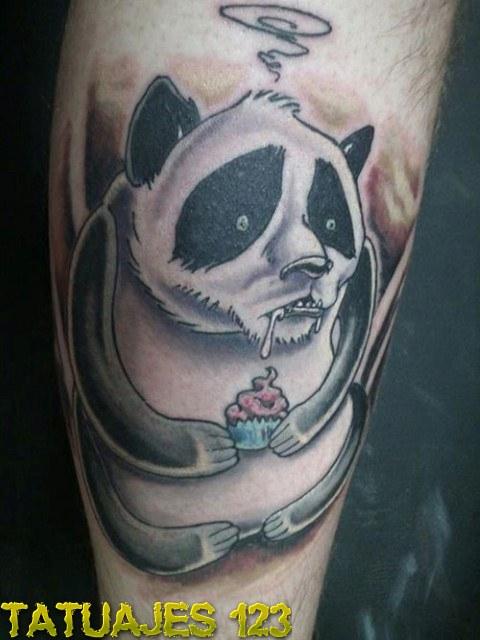 Oso panda con cupcake