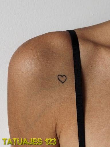Peque 241 O Coraz 243 N En El Hombro Tatuajes 123