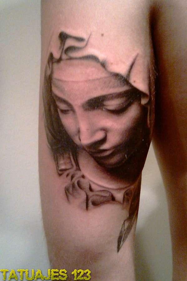 Tatuaje Virgen María