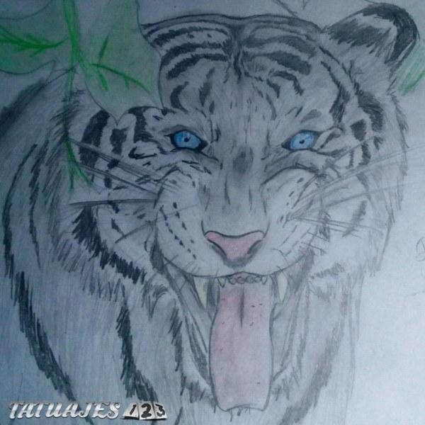 Dibujo de tigre blanco